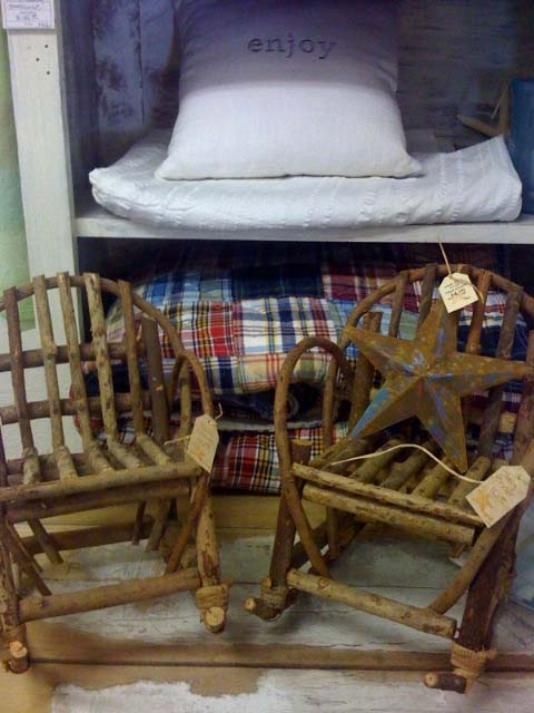 Fall twig chairs quilt
