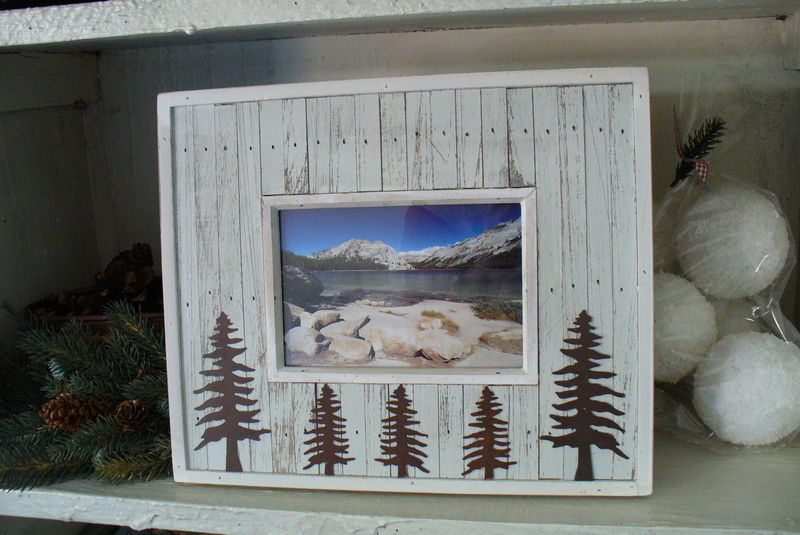 Rustic white frame