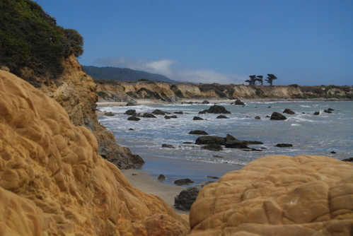 Beach across Hwy 1 from Costanoa